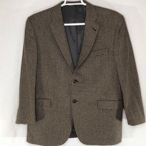 Burberry London Glen Plaid 100% Wool Sport Coat 44
